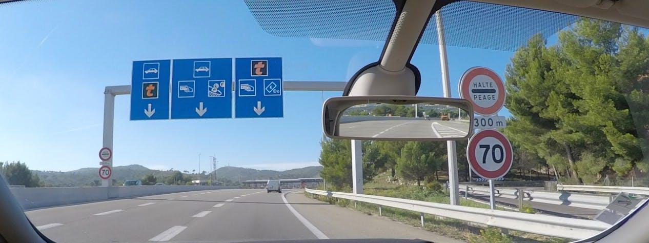Limitation de vitesse sur autoroute