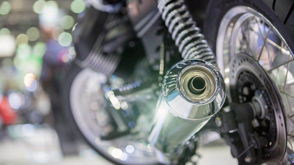 Pot d'echappement d'un deux-roues motorise