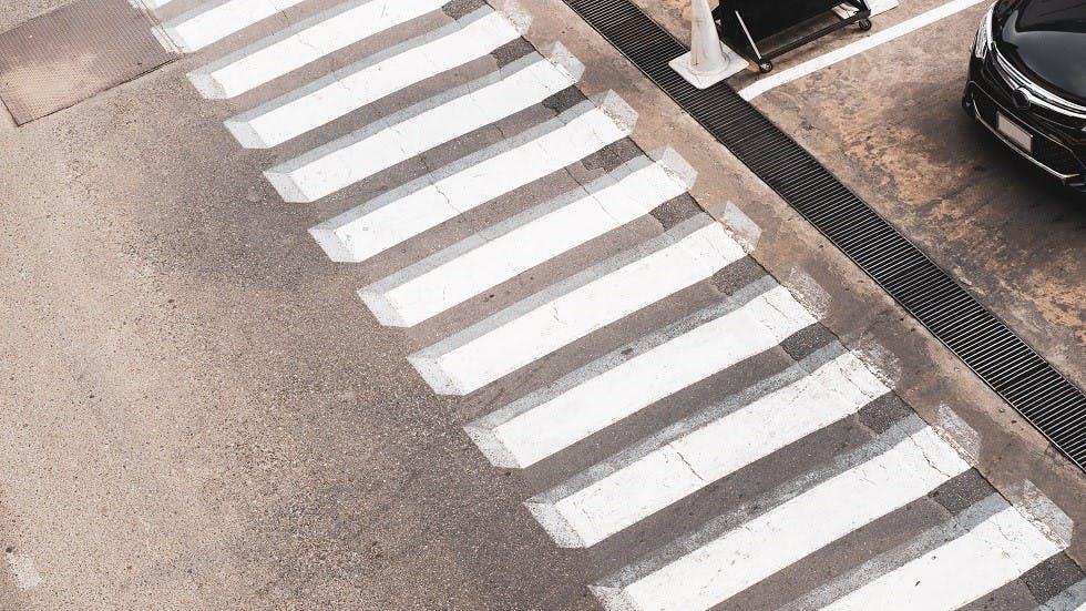 Passage pour pietons avec effet en trois dimensions