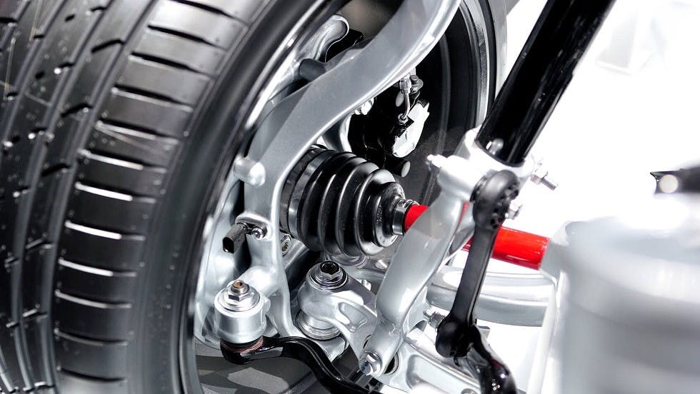 Systeme de suspension d'une roue
