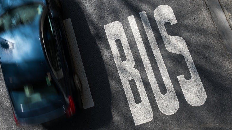 Voie reservee aux bus
