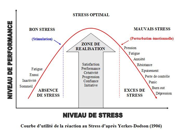 Courbe de montée du stress