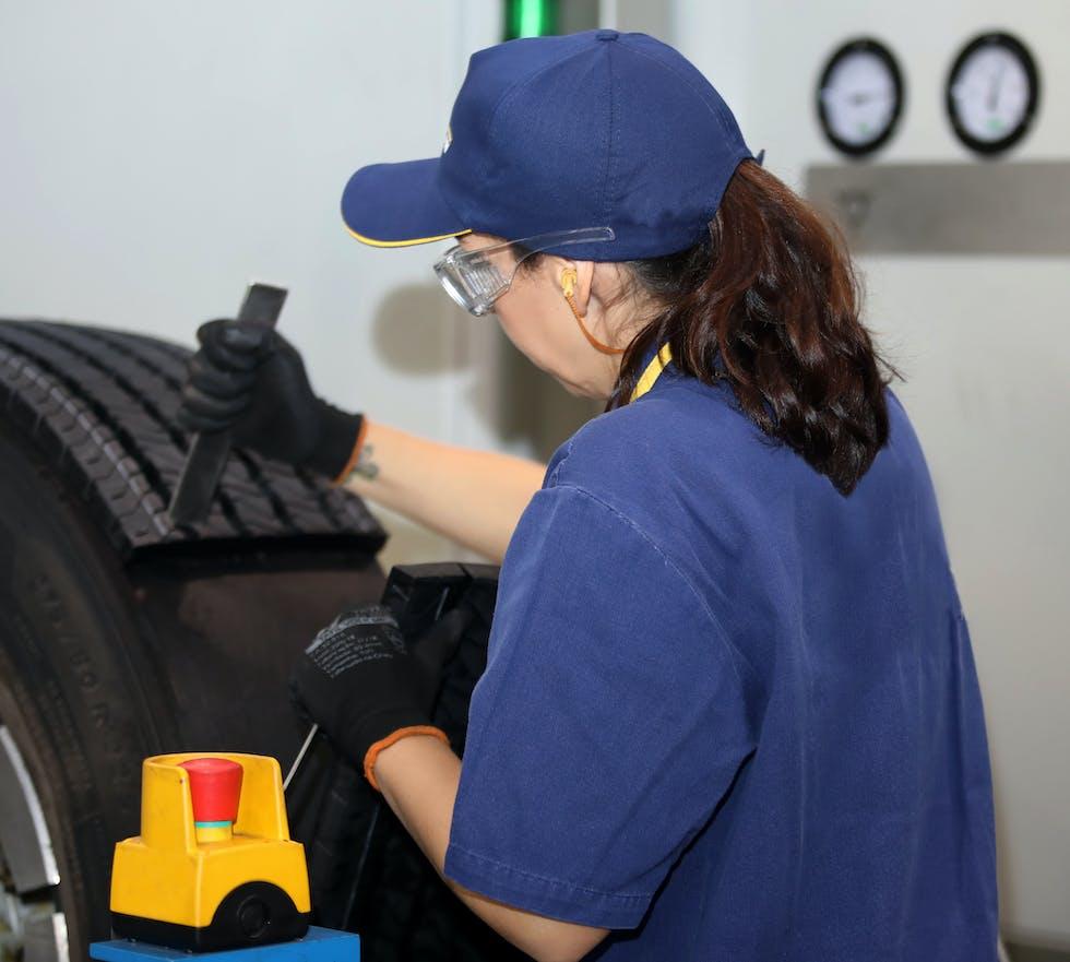 Rechapage d'un pneu