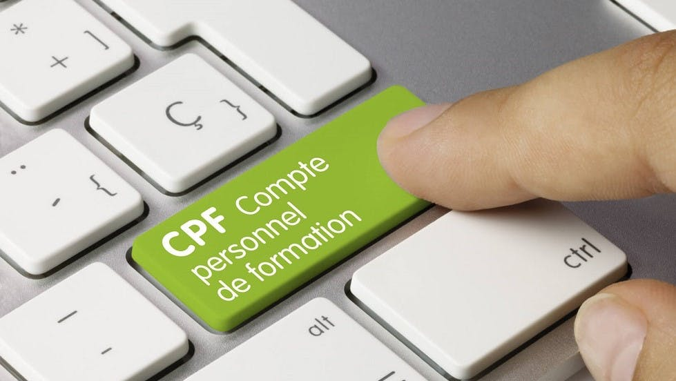 Bouton d ordinateur comportant la mention cpf