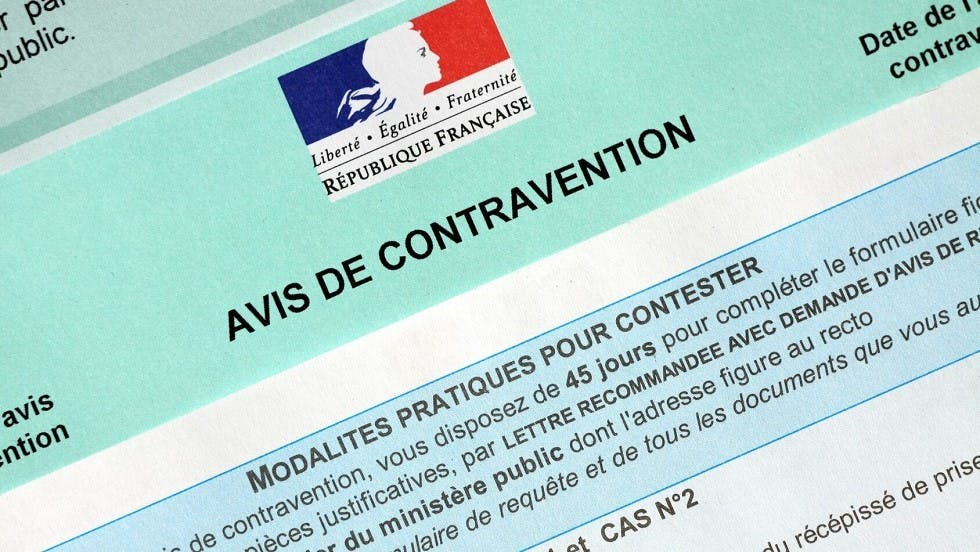 Modalites de condtestation d'un avis de contravention