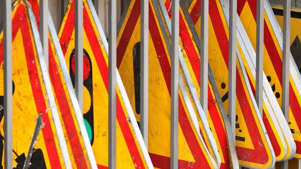 Panneaux de signalisation temporaire en vrac