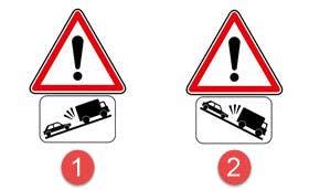 panonceaux de risque de heurts de véhicules lents