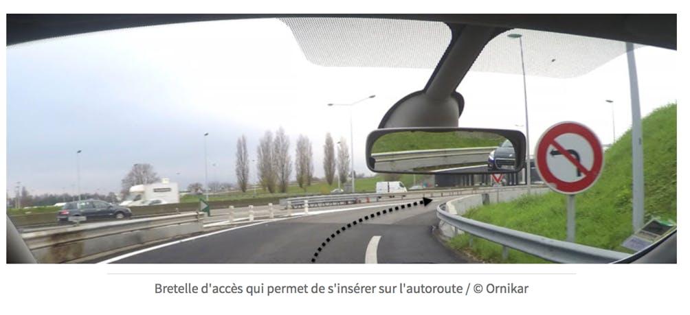 Bretelle d'accès à l'autoroute