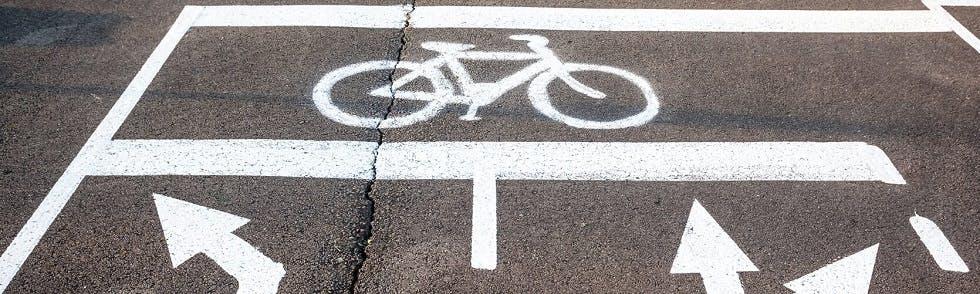 Sas pour vélo au niveau d'une intersection