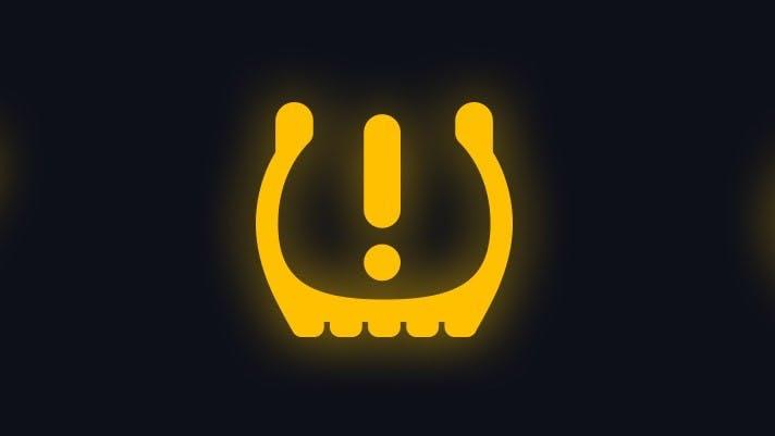 Voyant d'alerte de pression des pneus