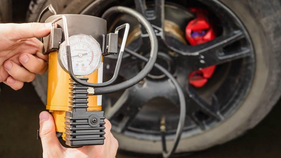 Pompe utilisee pour gonfler un pneumatique