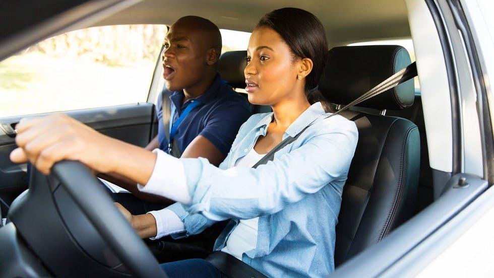 Candidate à l'examen du permis de conduire