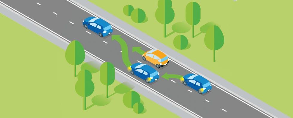 Dépasser d'autres véhicules en toute sécurité