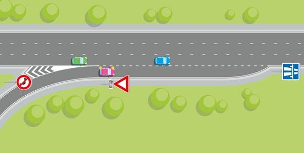 une jonction d'autoroute