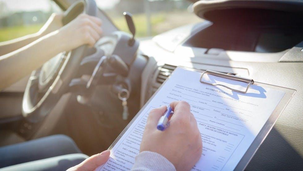 Notation durant l'examen du permis de conduire