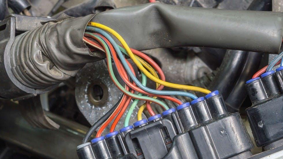 Cables electriques d'une automobile