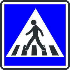 Panneau d'indication de passage pour pietons