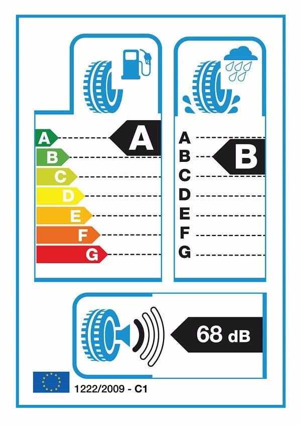 Exemple d'étiquette énergie utilisée pour les pneumatiques