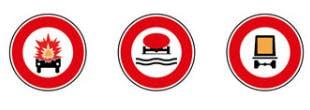 Panneaux interdiction : véhicules spécifiques