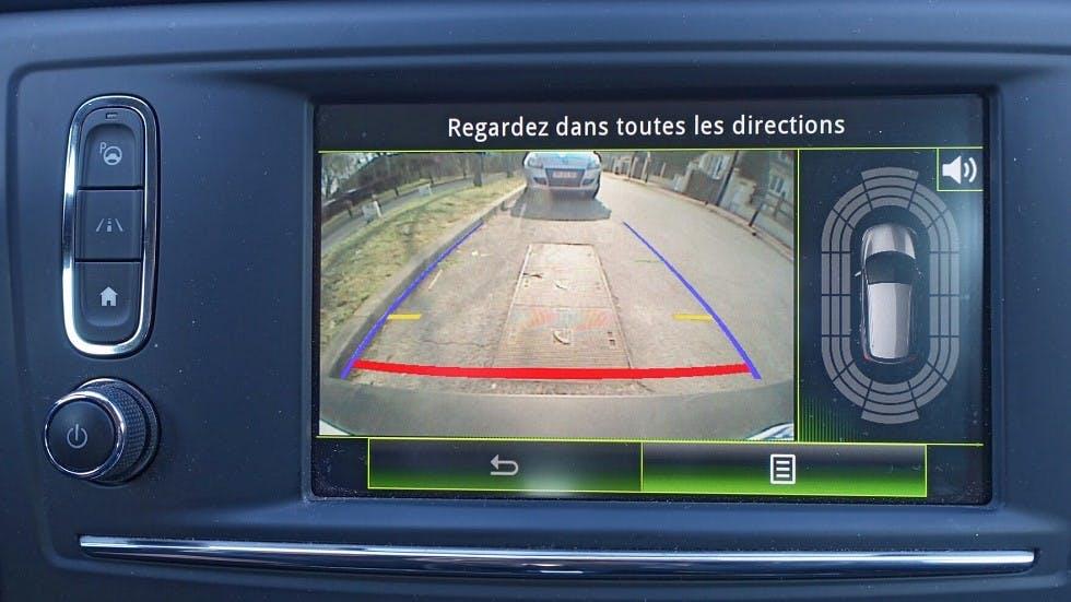 Ecran d'une camera de recul equipee sur une automobile