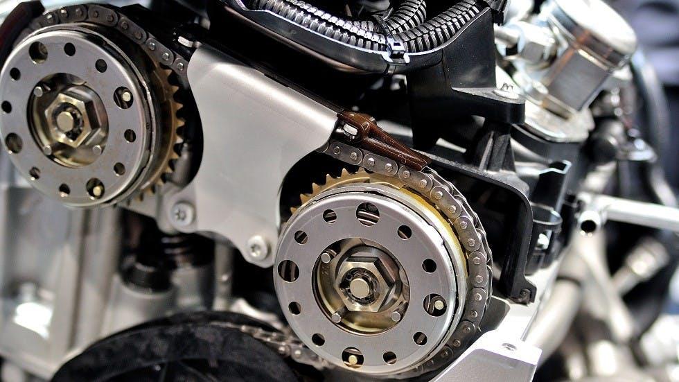 Chaine de distribution d'un moteur d'automobile