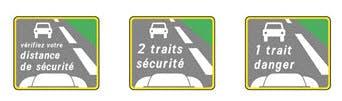 Calcul simplifie des distances de securite sur autoroute