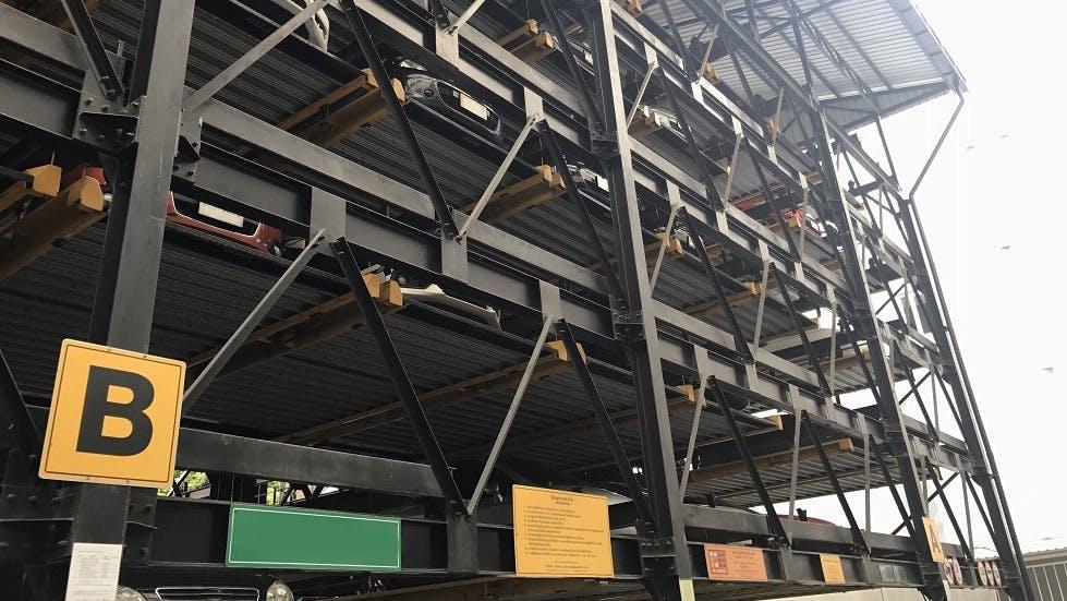Exemple de parking automatise en exterieur