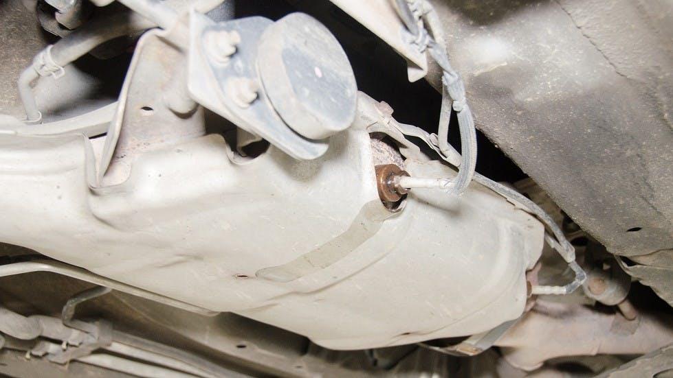 Filtre a particules integre au systeme d'echappement d'un vehicule