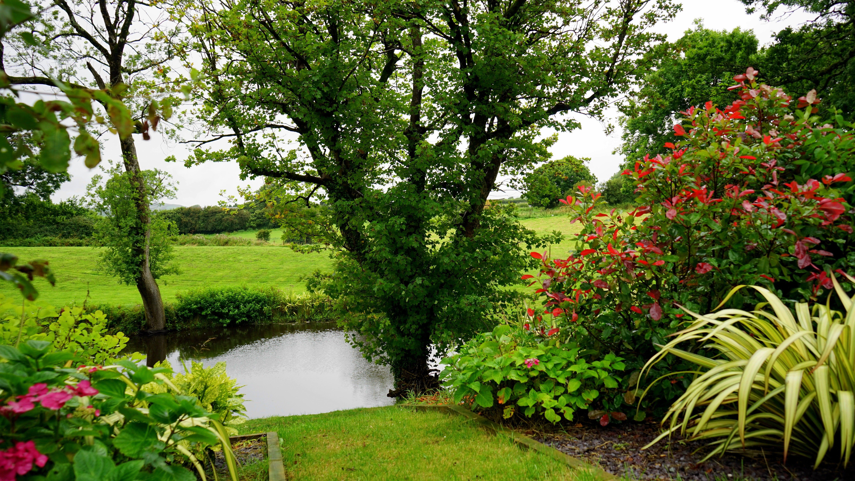 Garden in English countryside