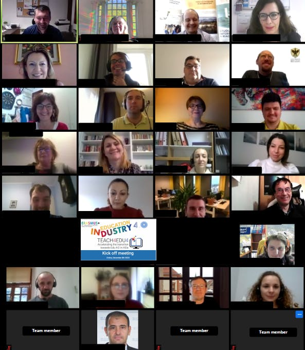 Image of virtual meeting from the TEACH4EDU4 project team
