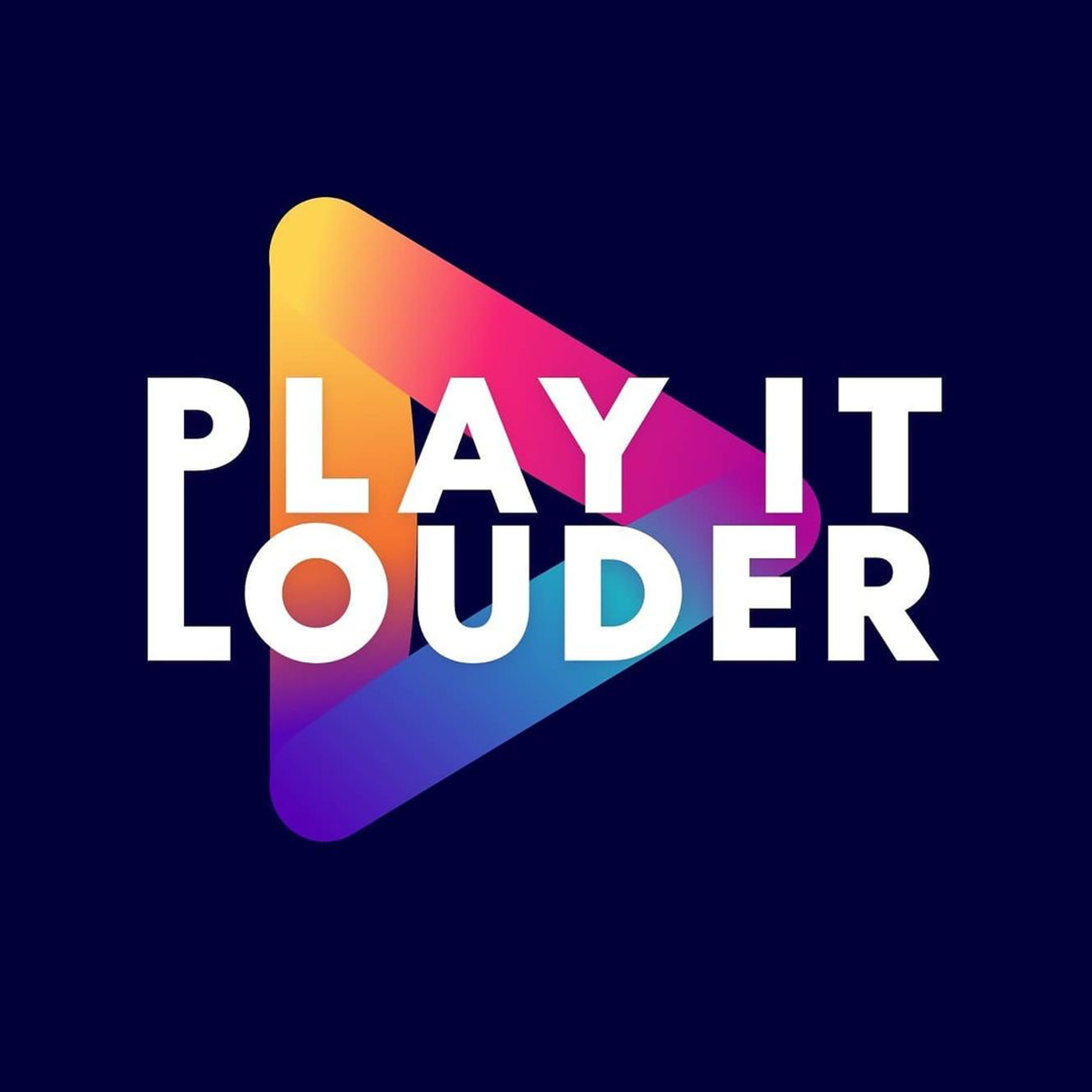 The colourful Play It Louder logo
