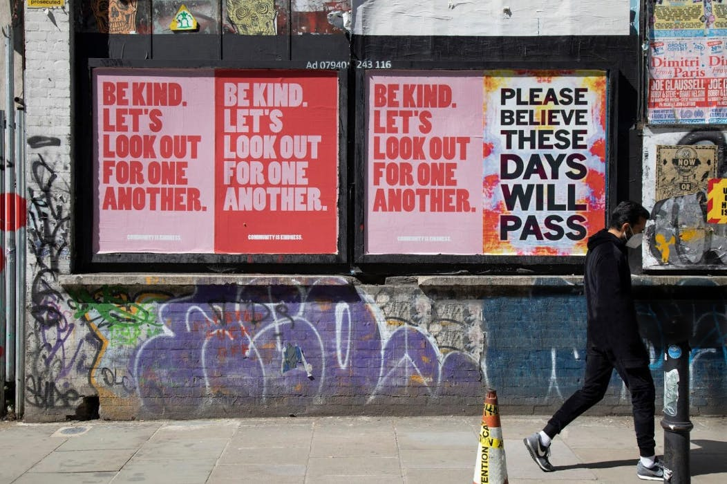 Paste Posters: Be Kind. Let's Look Out for One Another.