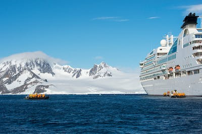 The Seabourn Quest in the Antarctic Peninsula region. Wolfgang Kaehler/LightRocket, via Getty Images