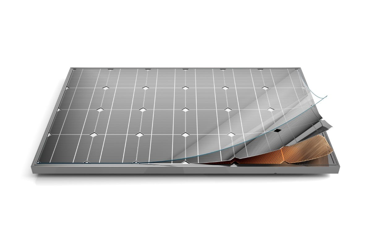Components of a solar panel that impact solar panel efficiency, leading to more efficient solar panels.