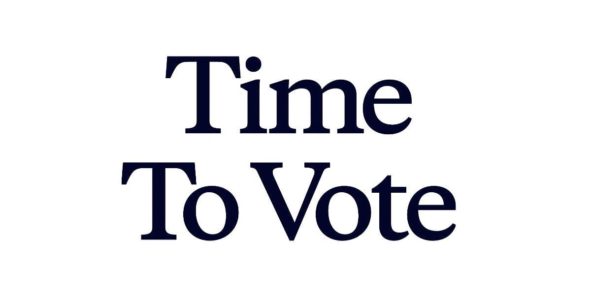 Time To Vote logo