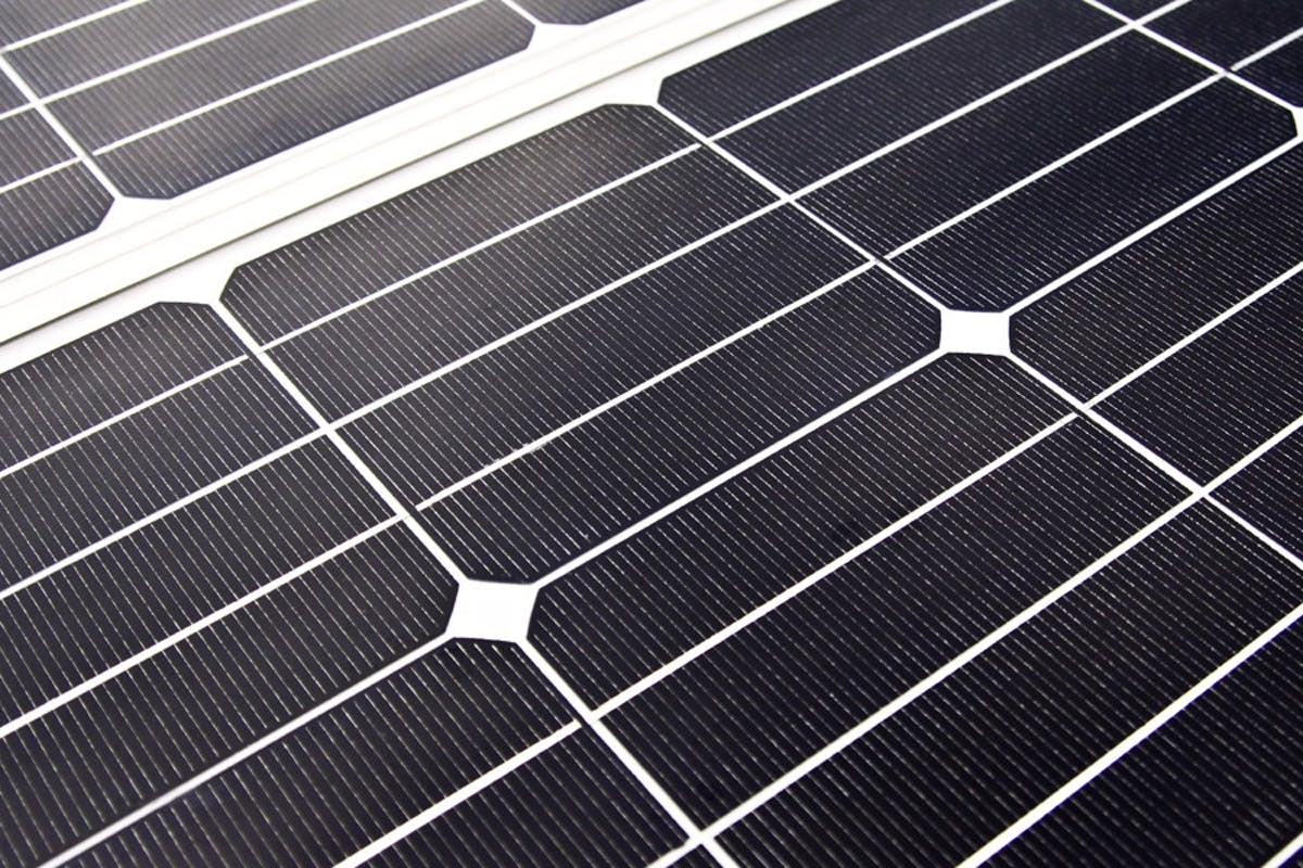 Up Close View Of A Home Solar Panel