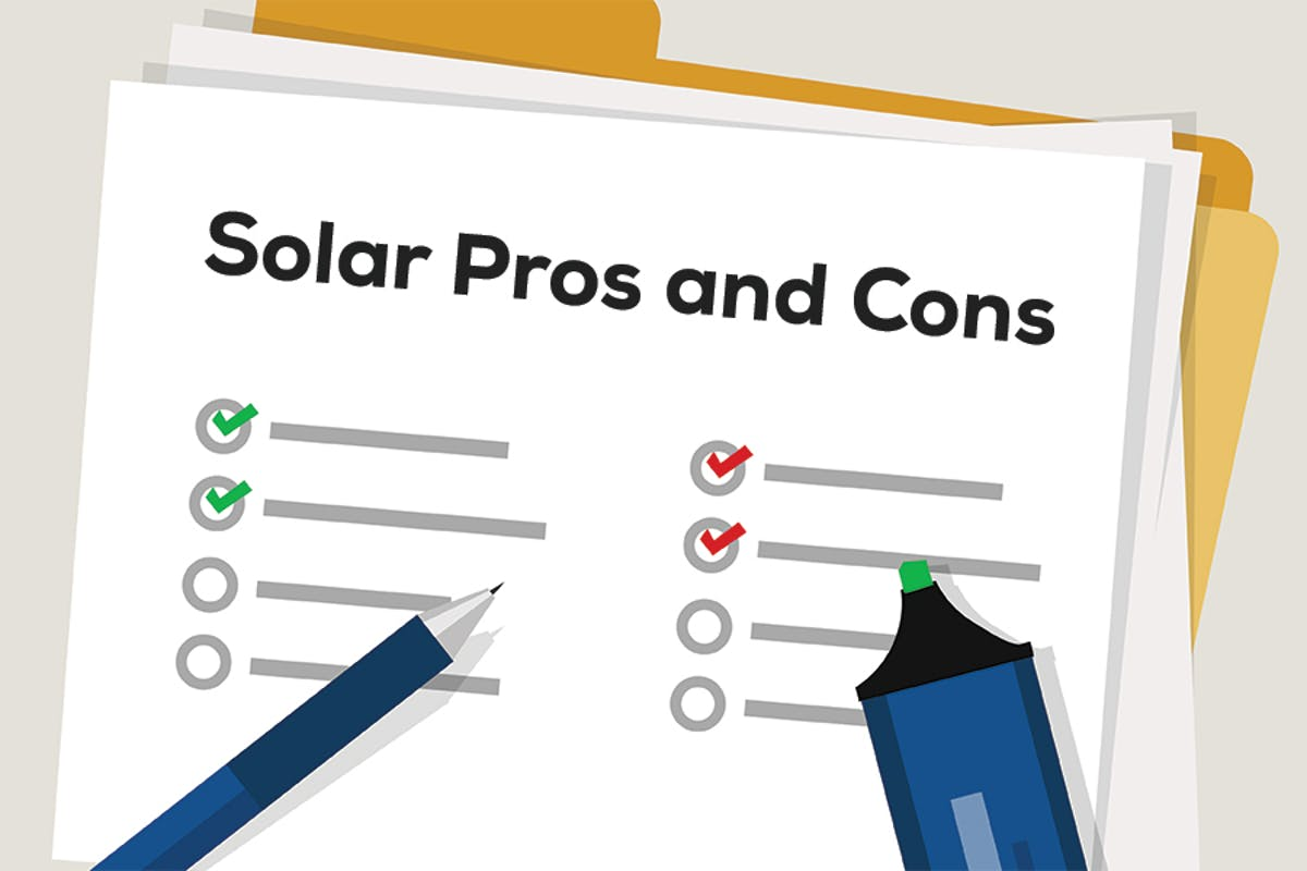 Homeowner making a list to consider the pros and cons of solar energy, comparing the benefits and drawbacks of home solar.