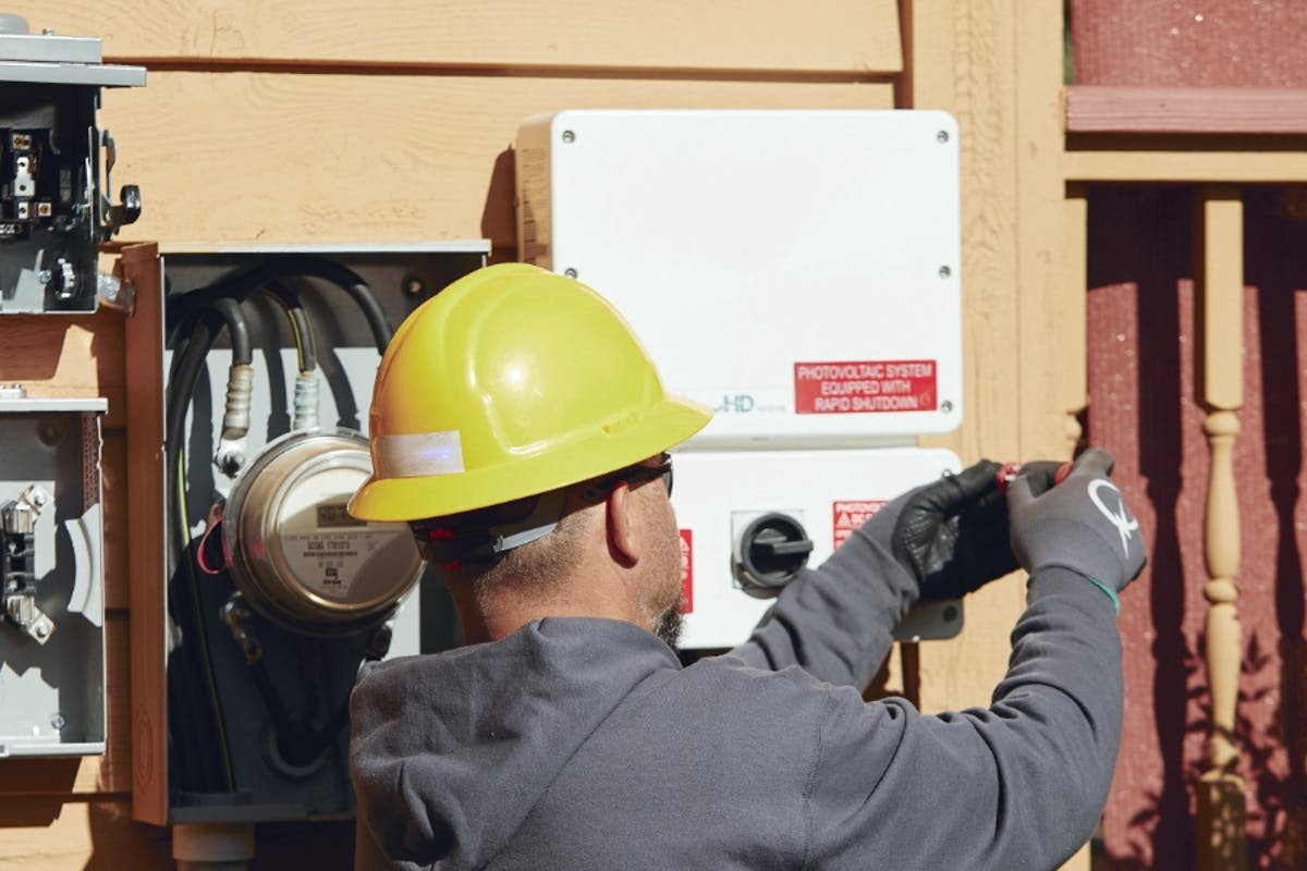 Solar power maintenance and service expert repairs solar equipment.