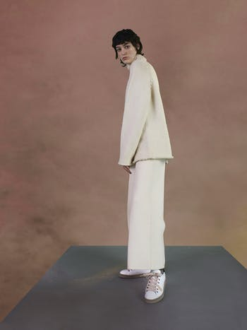 scarpe sportive donna pelle bianca