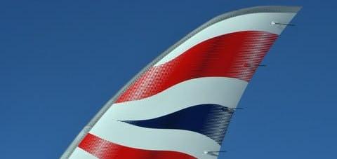 British Airways tail wing