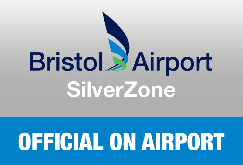 Bristol Airport SilverZone - Official On Airport Logo
