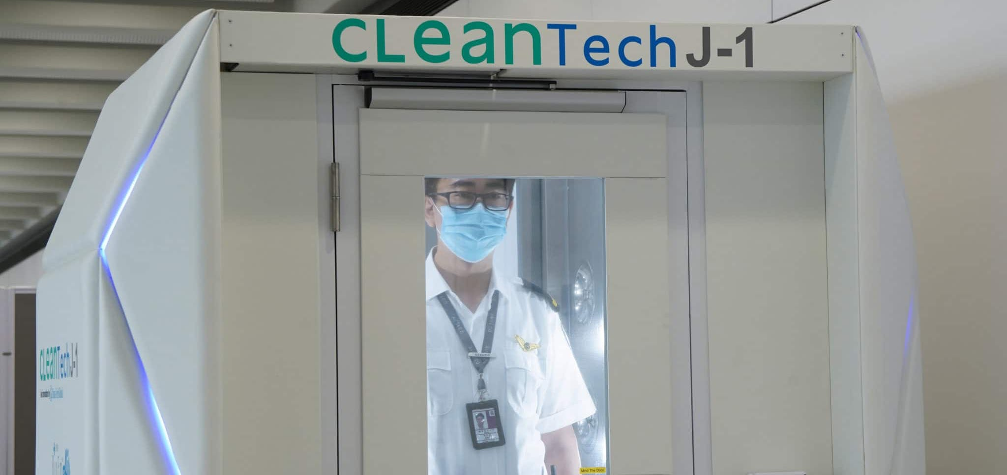 Man in a CleanTech machine