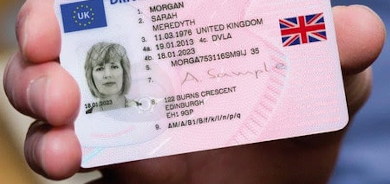 UK Driving Licence card
