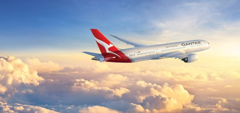 Qantas Jet Flying