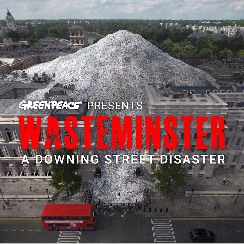 Greenpeace, Wasteminster: A Downing Street Disaster
