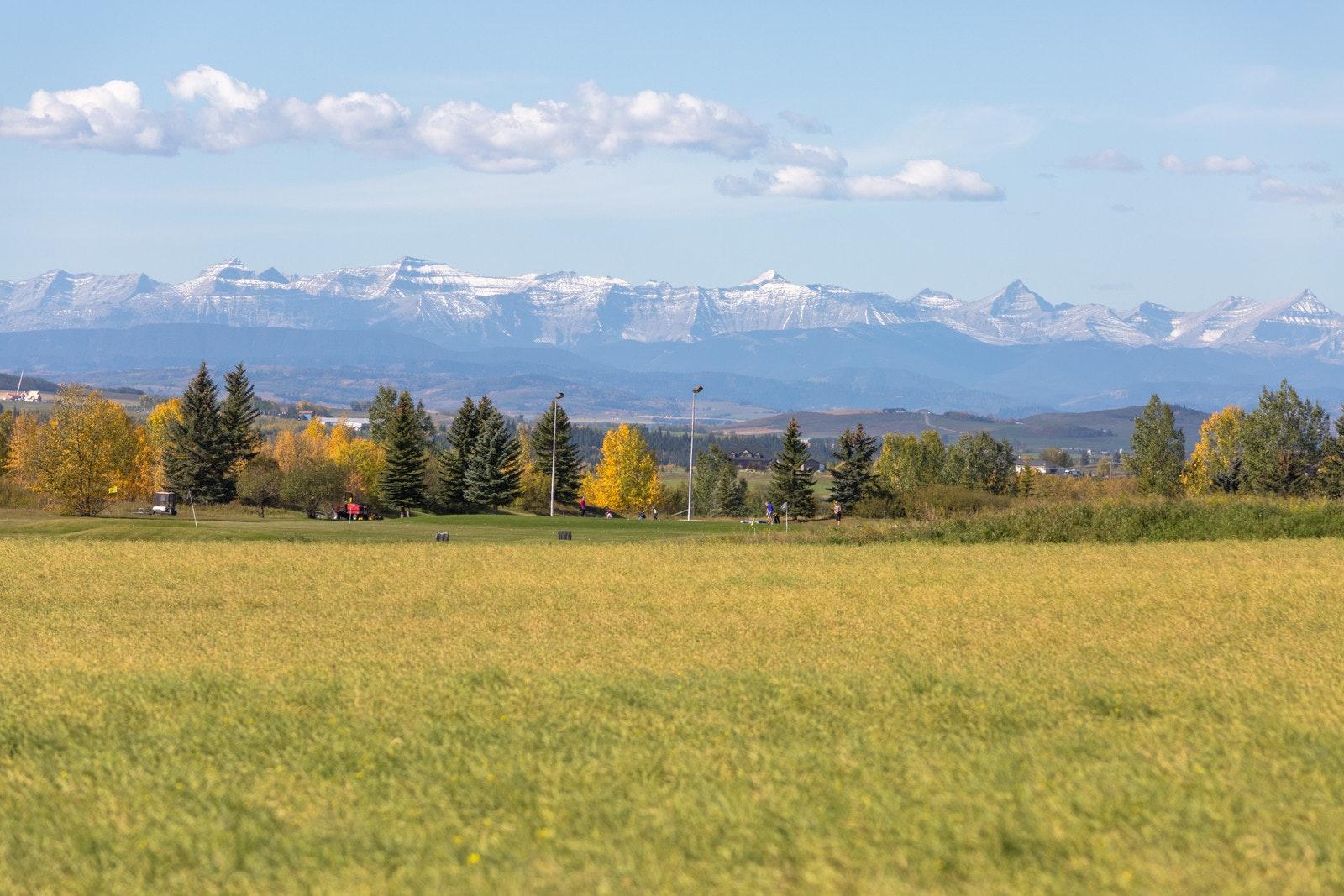 Mountain view from Okotoks