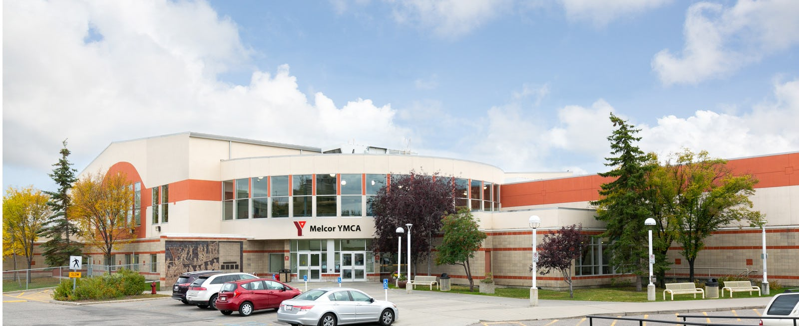 Exterior of Melcor YMCA at Crowfoot