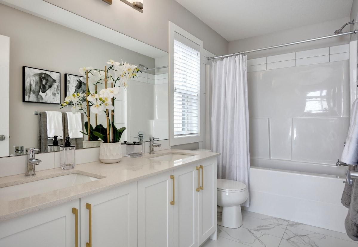 White ensuite bathroom