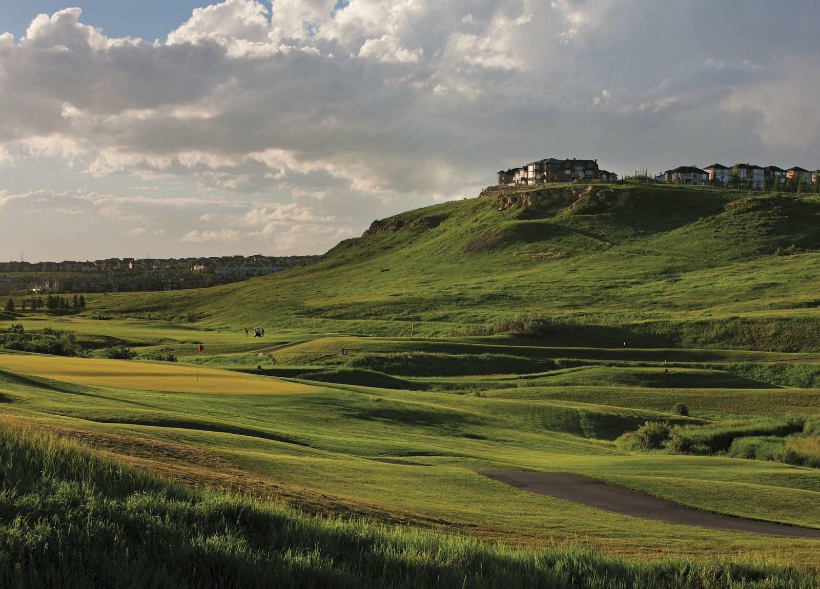 Golf course on a hill