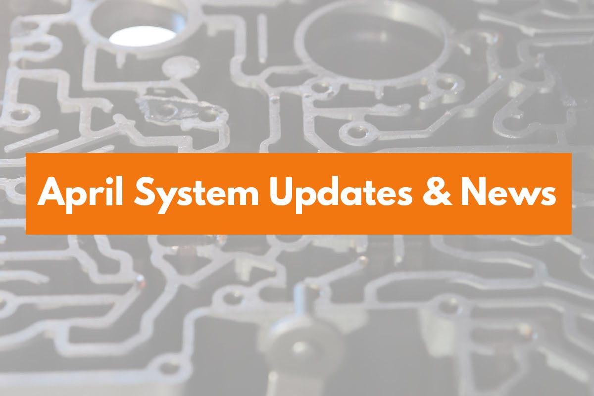 April system updates and news